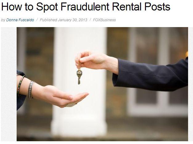 fraudulent rental post